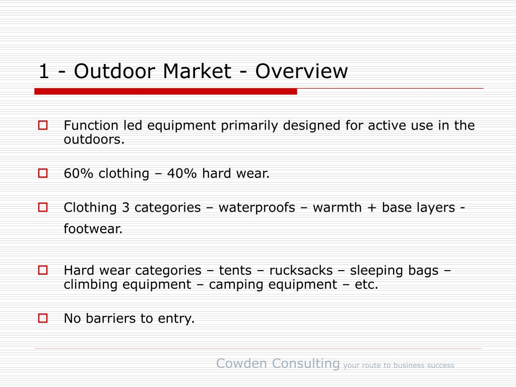 1 - Outdoor Market - Overview