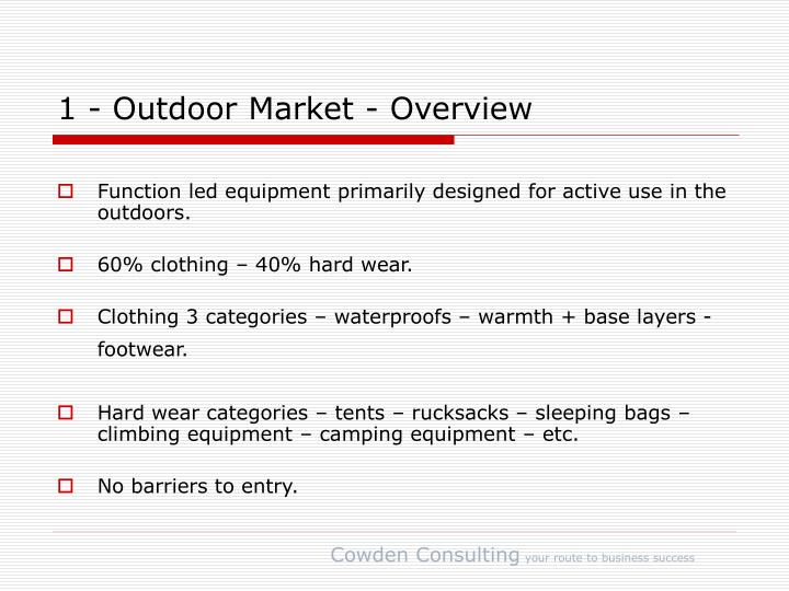 1 outdoor market overview