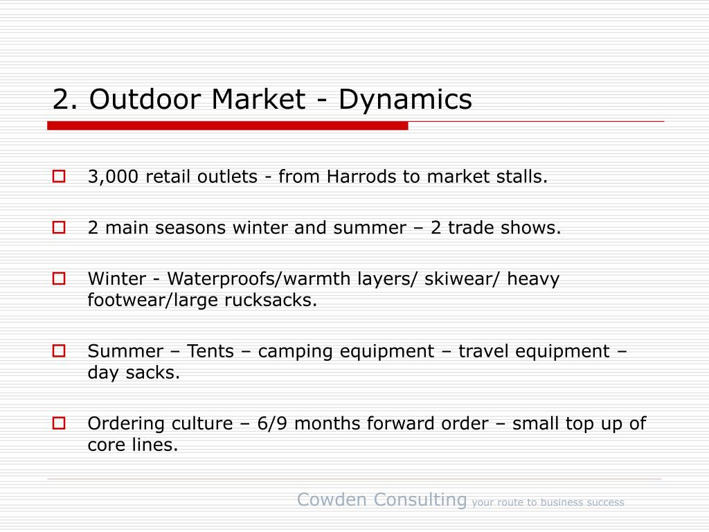 2. Outdoor Market - Dynamics