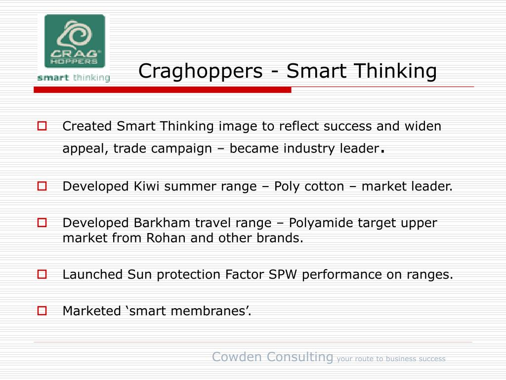 Craghoppers - Smart Thinking