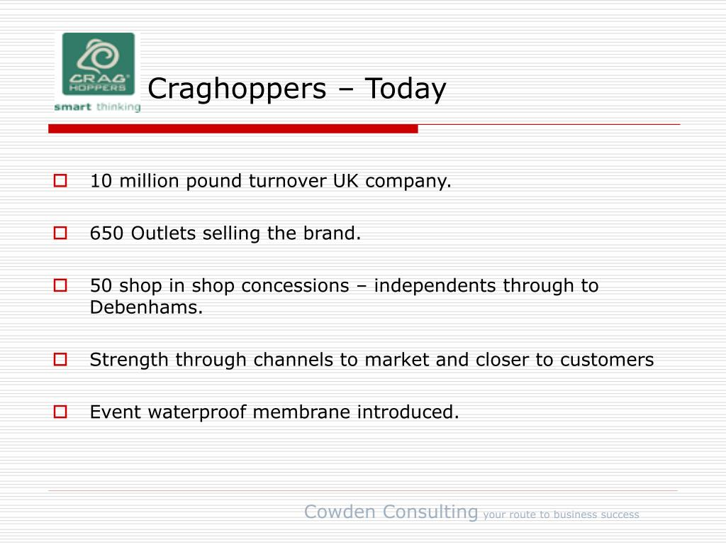 Craghoppers – Today
