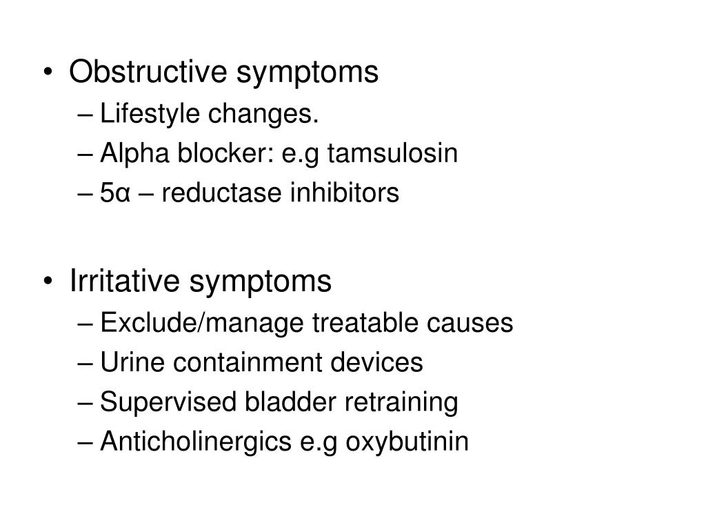 Obstructive symptoms