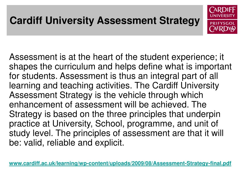 Cardiff University Assessment Strategy