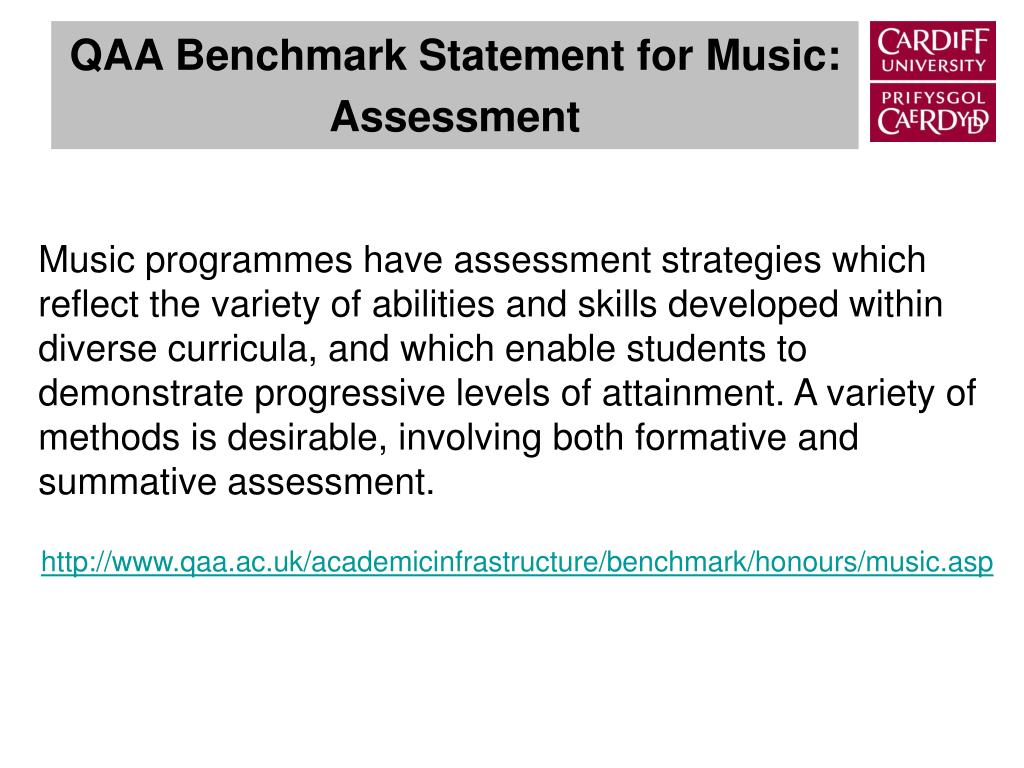 QAA Benchmark Statement for Music: Assessment