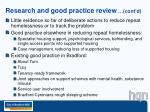 research and good practice review cont d