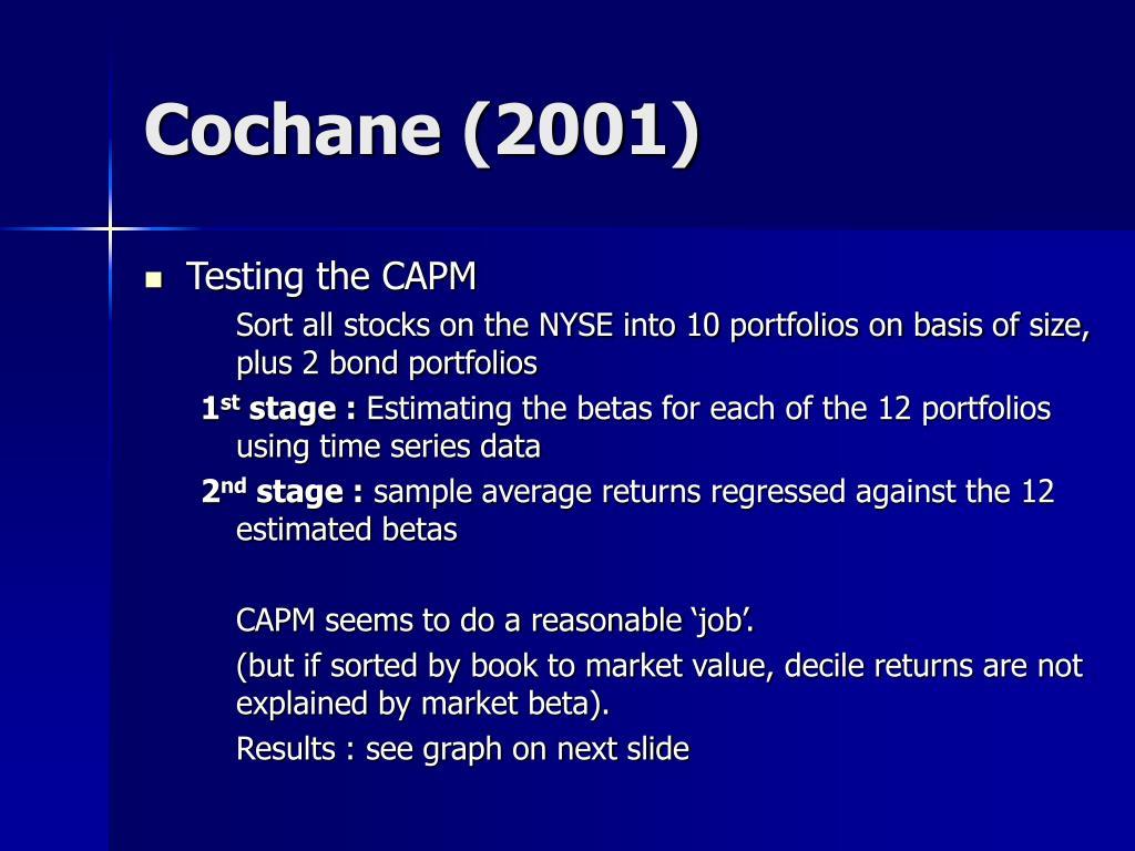 Cochane (2001)