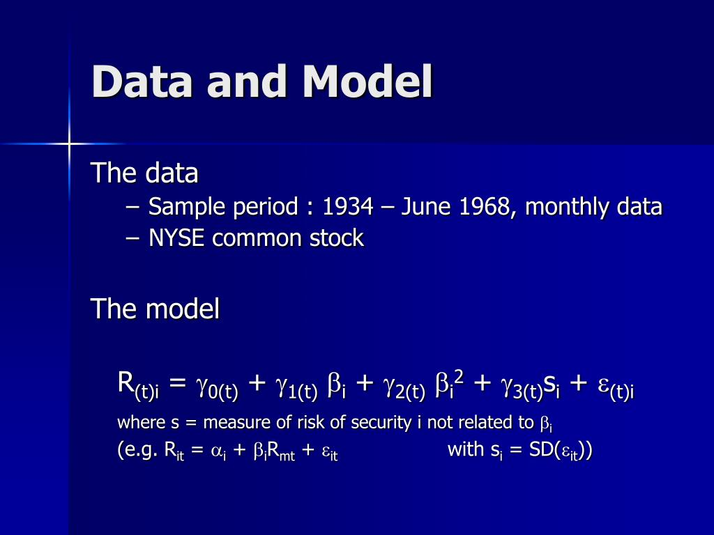 Data and Model