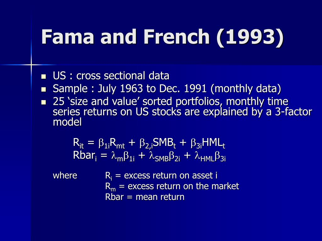 Fama and French (1993)