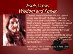 fools crow wisdom and power