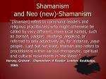 shamanism and neo new shamanism