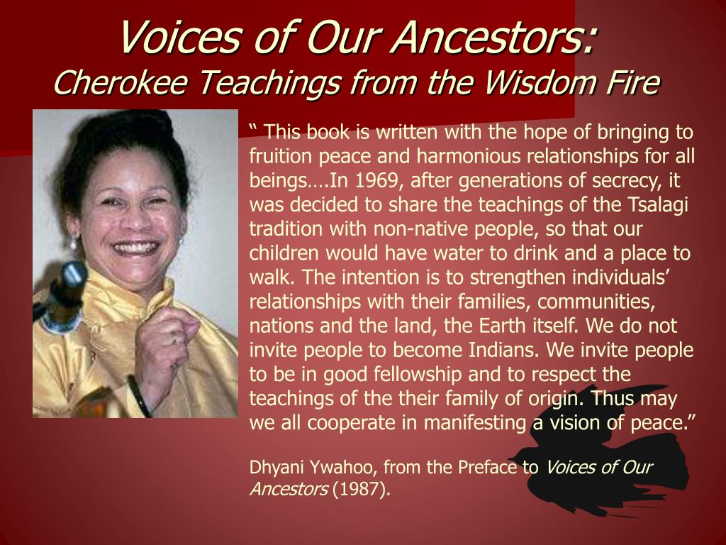 Voices of Our Ancestors: