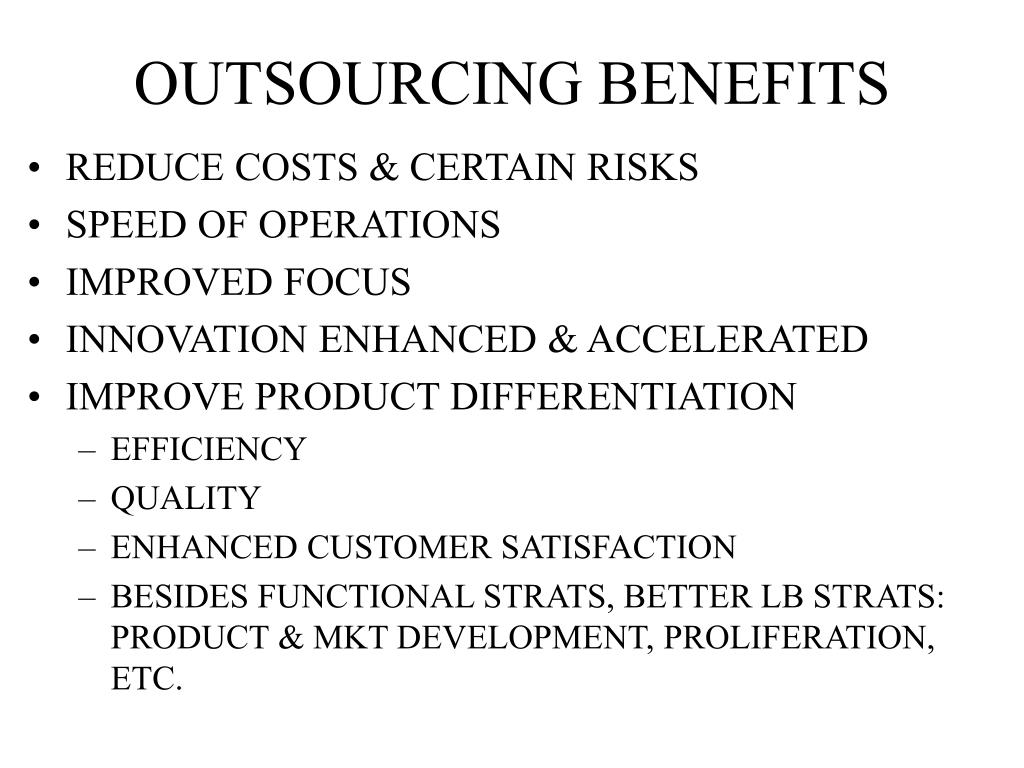 outsourcing benefits outline For a sample report and details of how to join nelsonhall's hr outsourcing confidence report outline: nelsonhall's targeting benefits administration market.