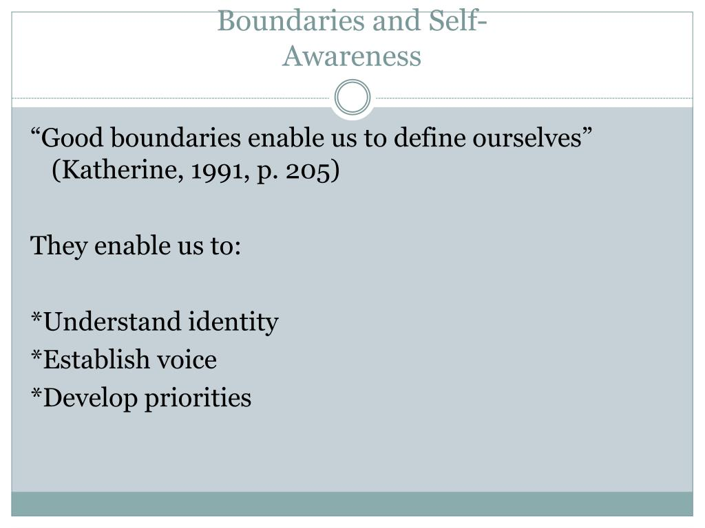 Boundaries and Self-