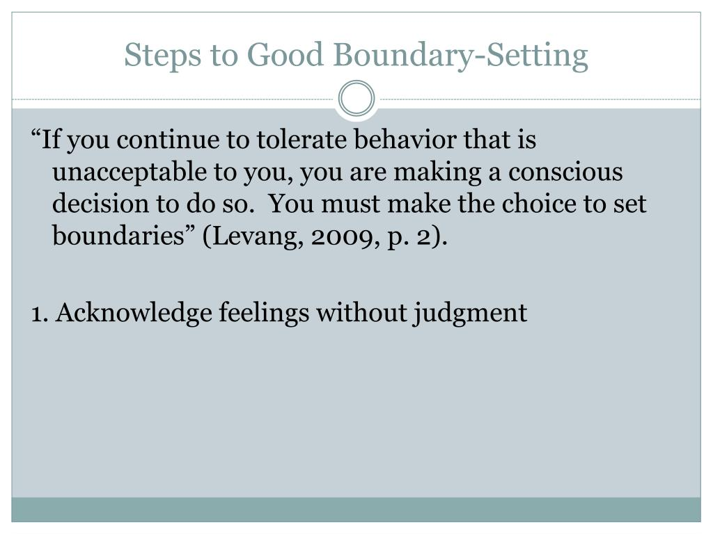 Steps to Good Boundary-Setting