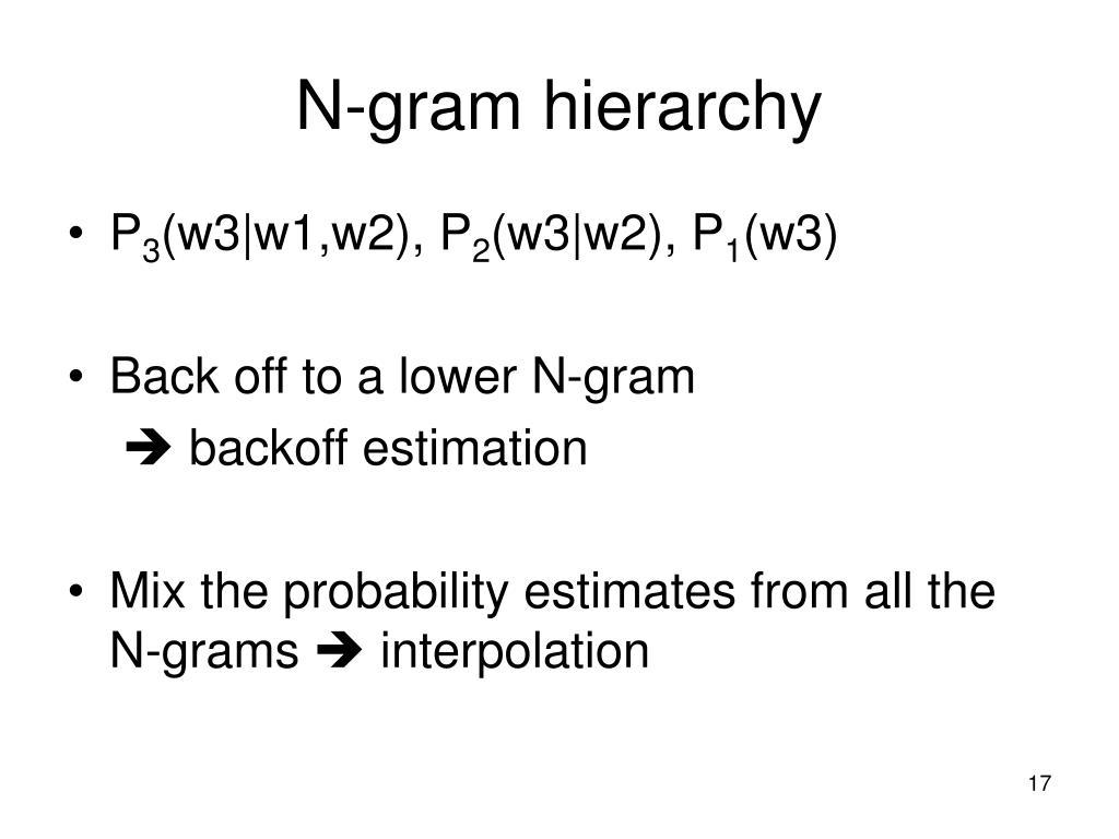 N-gram hierarchy