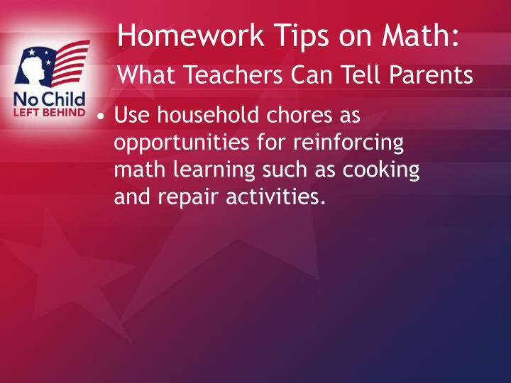 Math homework help for parents