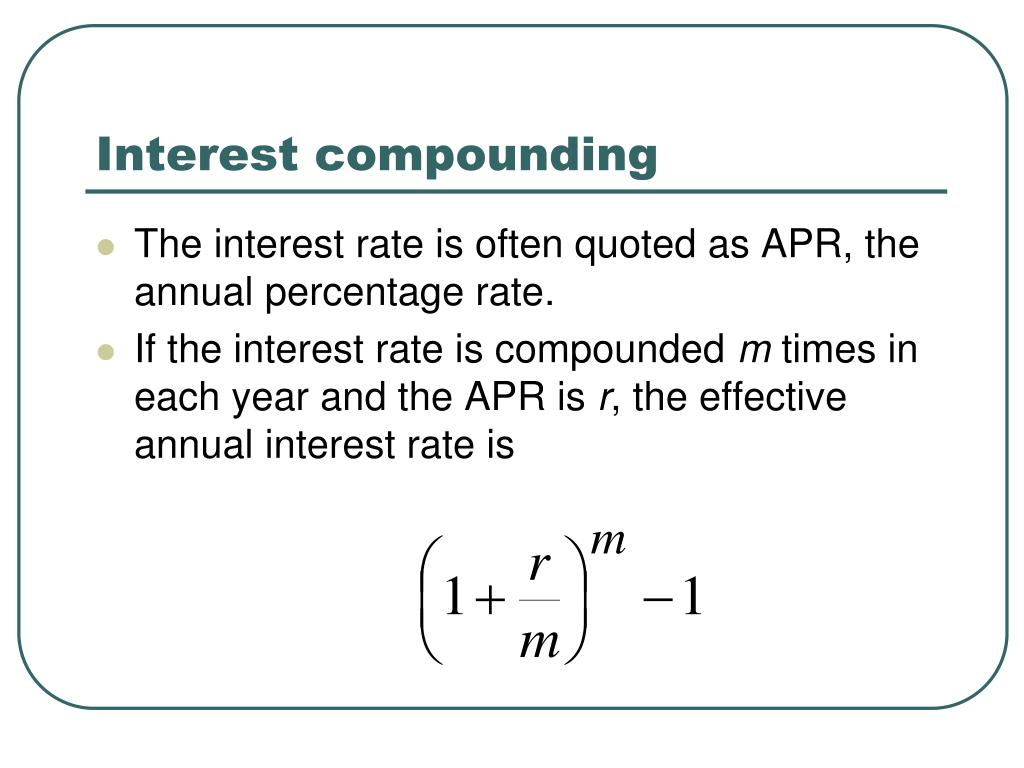Interest compounding