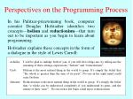 perspectives on the programming process
