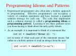 programming idioms and patterns