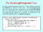 the dialogprogram class