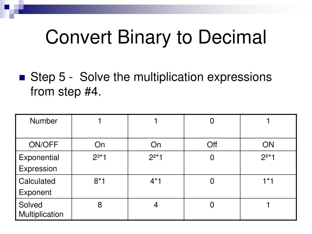 decimal to binary Would be in binary, would be written as one, one, one, zero, zero, one, zero converting from decimal to binary converting from decimal to hexadecimal representation.