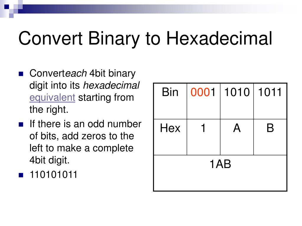 Binary converter java