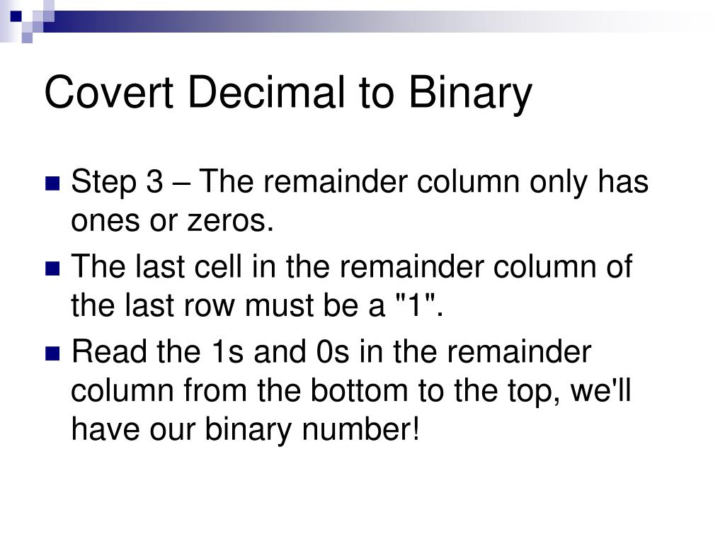 Binary number system conversion ppt
