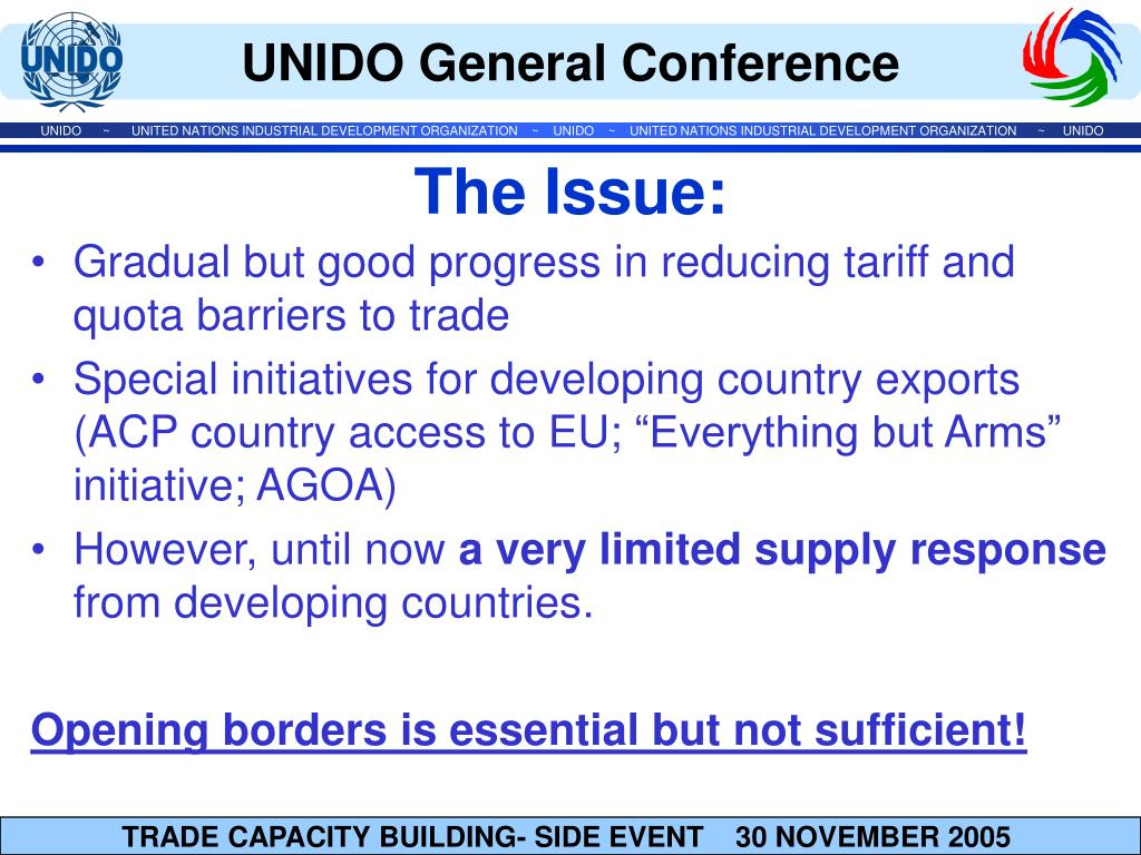 Gradual but good progress in reducing tariff and quota barriers to trade