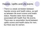 hassles uplifts and life events25