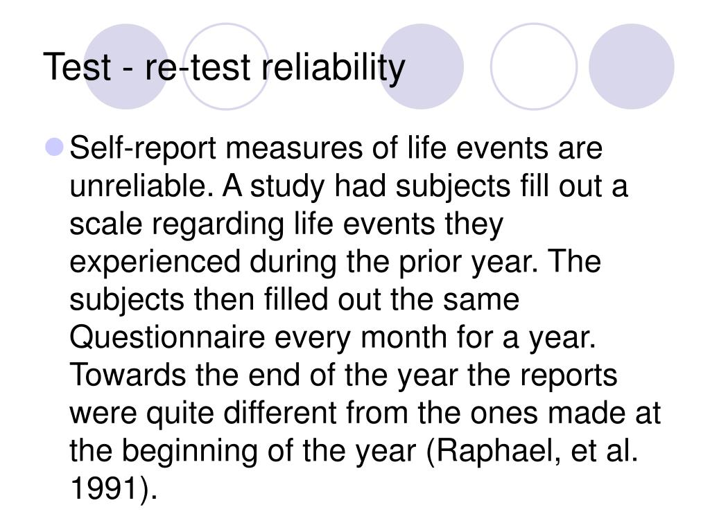 Test - re-test reliability