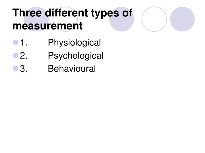 Three different types of measurement l.jpg