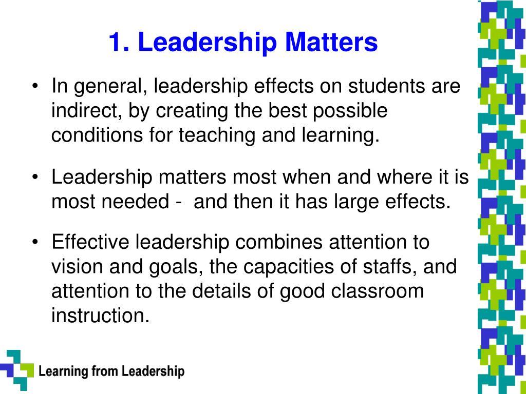 1. Leadership Matters