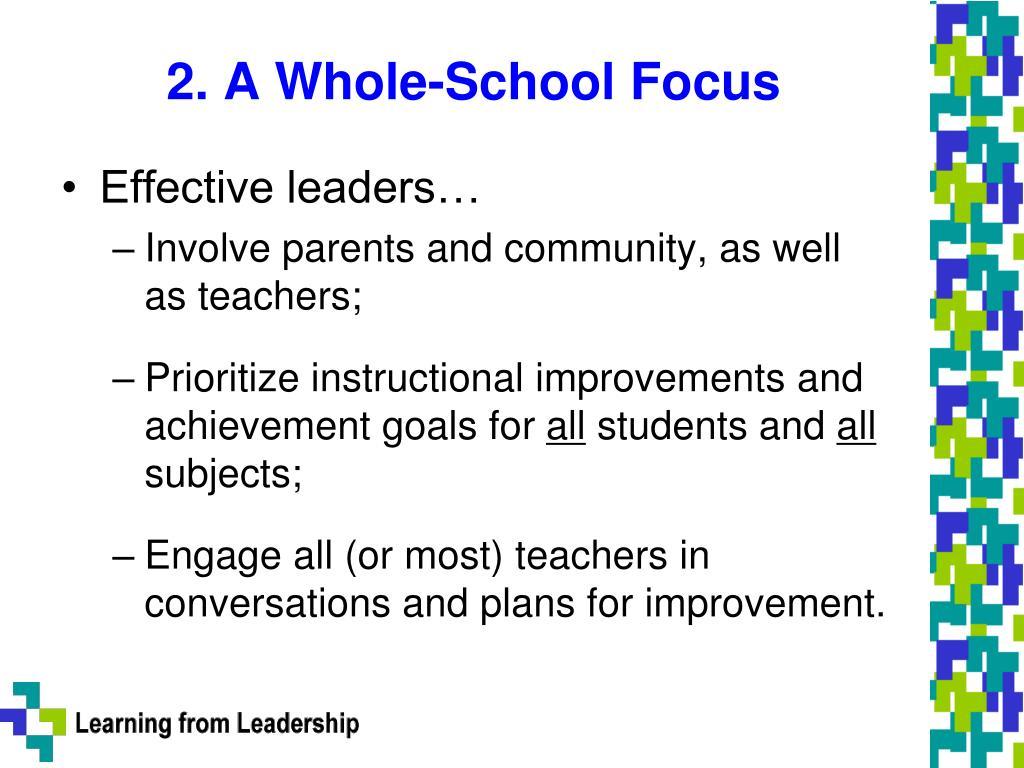 2. A Whole-School Focus