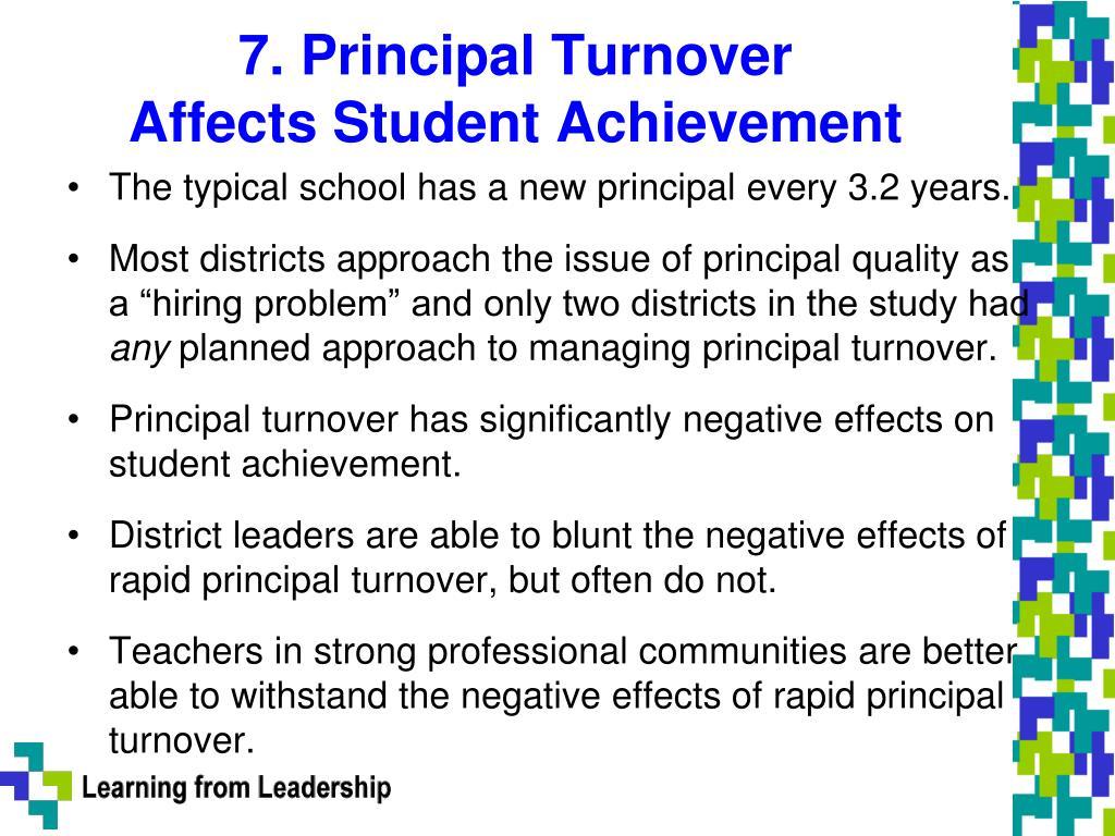7. Principal Turnover