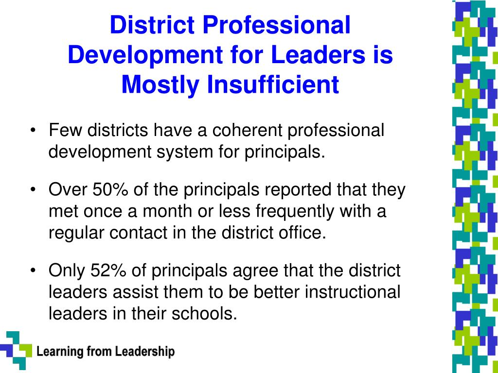 District Professional Development for Leaders is Mostly Insufficient