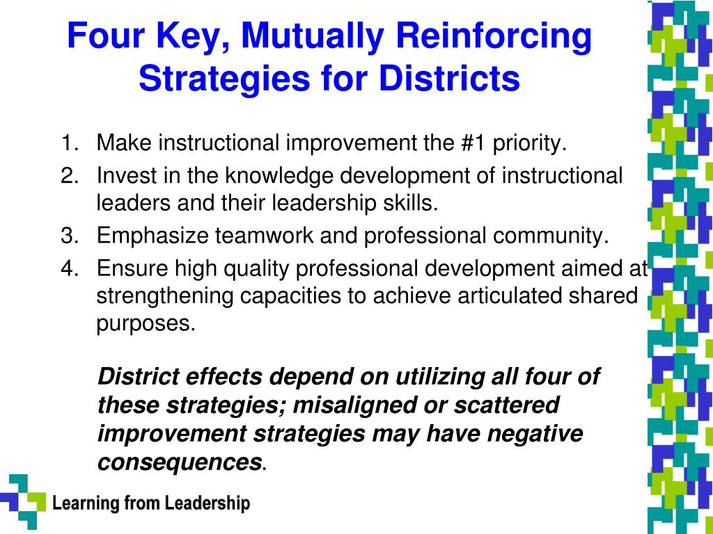 Four Key, Mutually Reinforcing Strategies for Districts