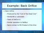 example back orifice