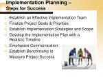 implementation planning steps for success