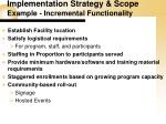 implementation strategy scope example incremental functionality