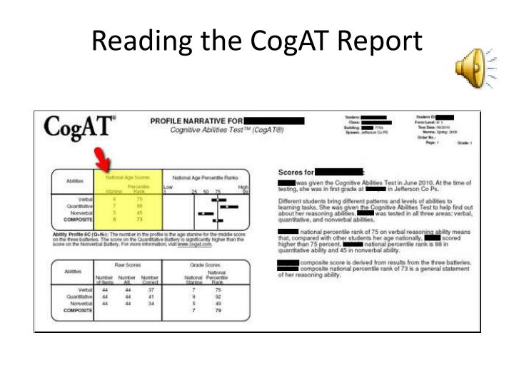 Reading the cogat report3