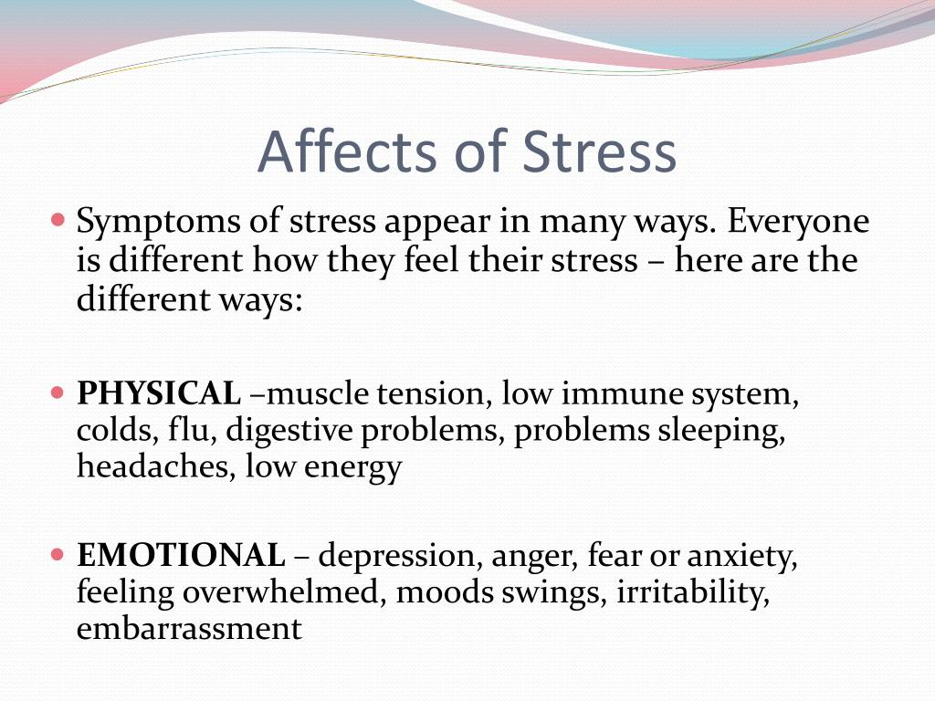 Affects of Stress
