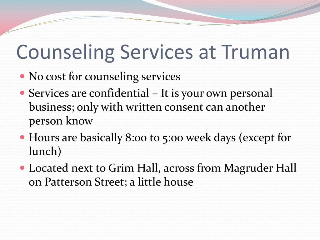 Counseling Services at Truman