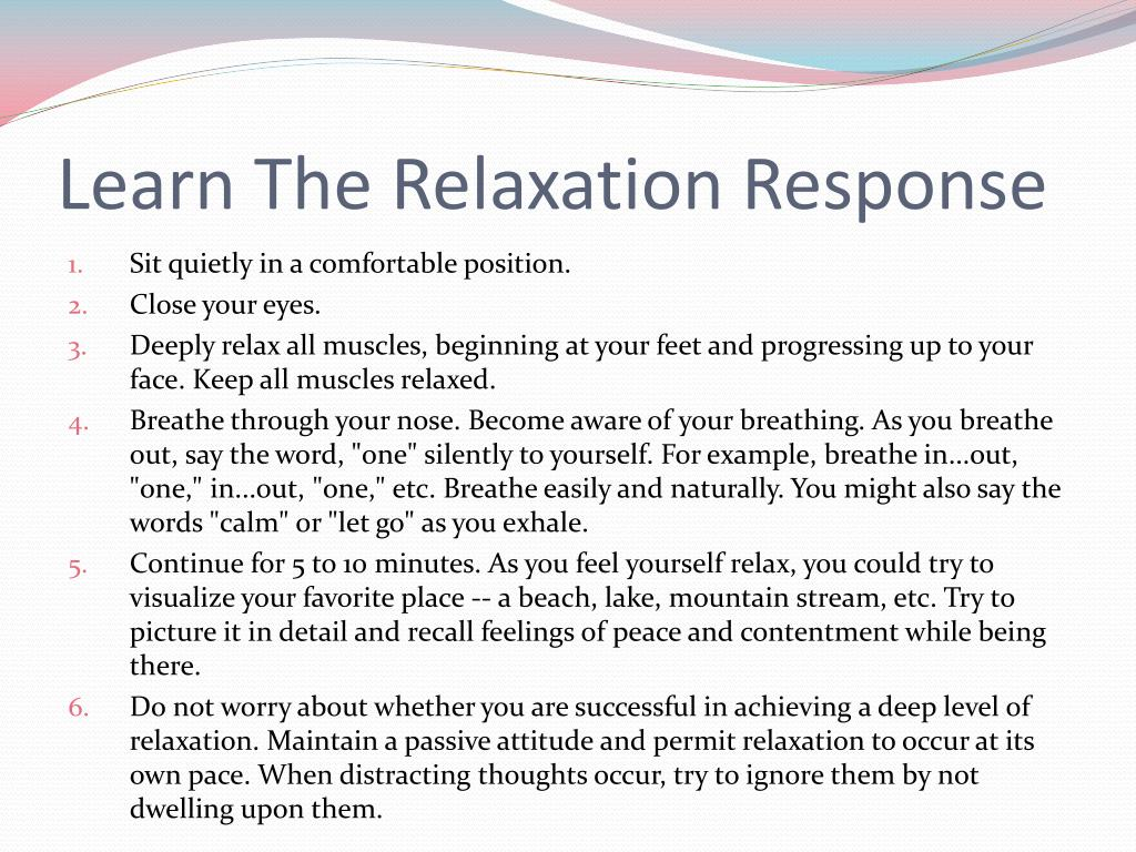 Learn The Relaxation Response