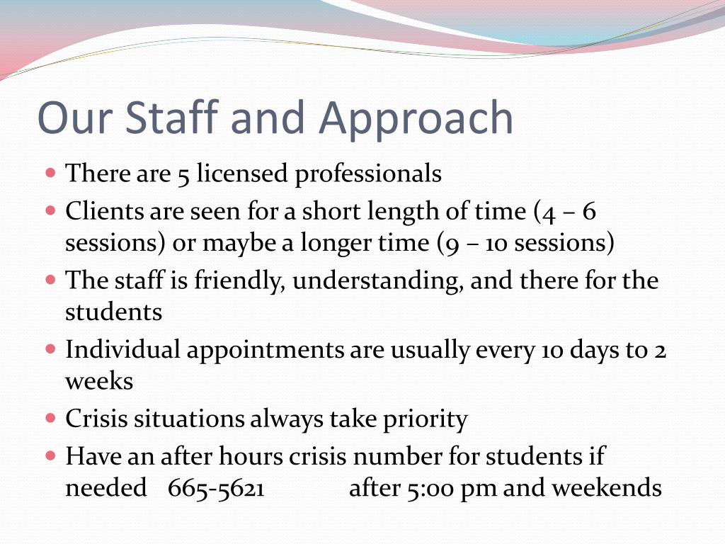 Our Staff and Approach