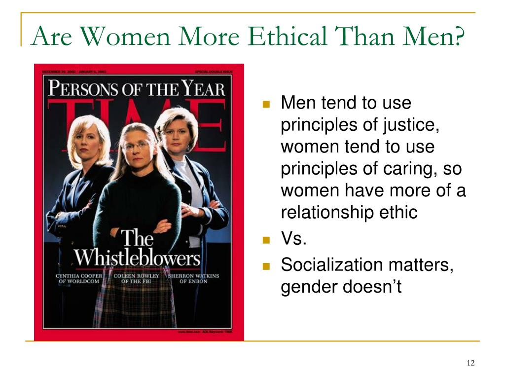 Are Women More Ethical Than Men?