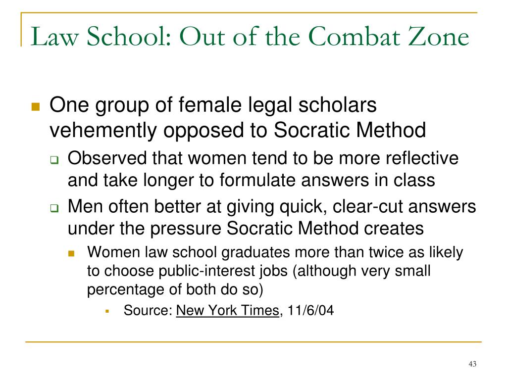 Law School: Out of the Combat Zone