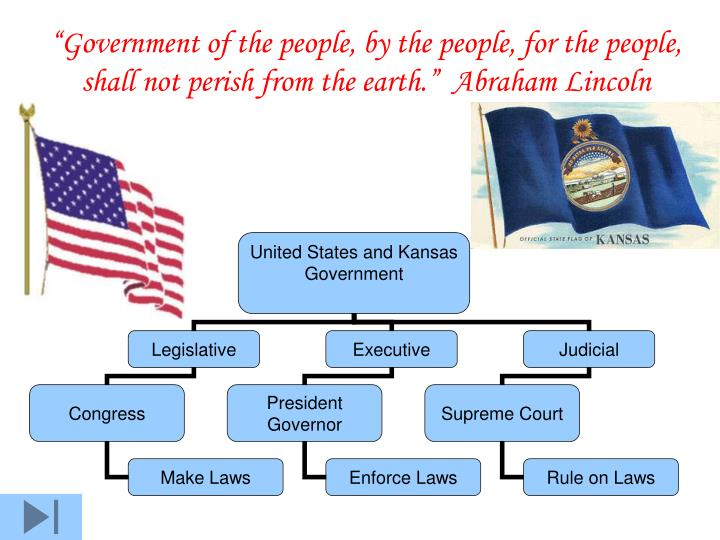 """Government of the people, by the people, for the people, shall not perish from the earth.""  Abr..."