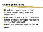 cases casuistry