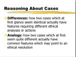 reasoning about cases