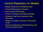 central repository for models